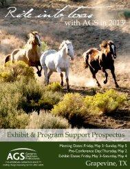 Exhibit & Program Support Prospectus - American Geriatrics Society