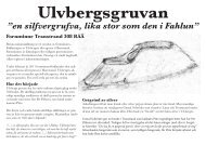 "Ulvbergsgruvan ""en silfvergrufva, lika stor som den i Fahlun"""