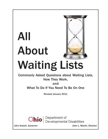 All About Waiting Lists Handbk, Rev 1-2011.p65 - Portage County ...