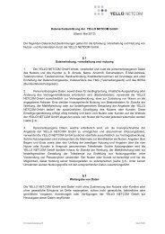 Stand: 05.2013 - Yello NetCom GmbH