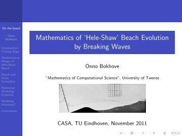 Mathematics of Hele-Shaw Beach Dynamics.
