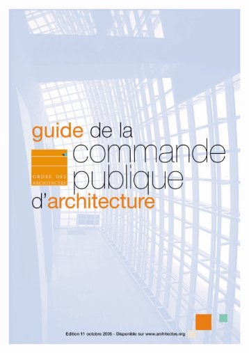 Guide de la commande publique d'architecture - Ramau