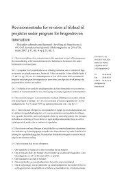 Revisionsinstruks for revision af tilskud til ... - Erhvervsstyrelsen