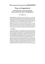 Wege zur Gruppentheorie - mathematica didactica