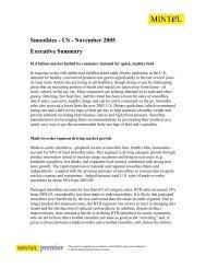 Smoothies - US - November 2005 Executive ... - Catering.com.co