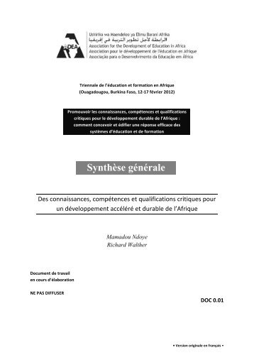 Synthèse générale - ADEA
