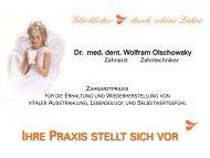 Praxismappe Zahnarztpraxis Dr. med. dent. Wolfram Olschowsky