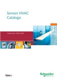 Sensori HVAC Catalogo - Schneider Electric