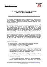 Un nuevo marco de relaciones laborales para 120.000 - FETE-UGT