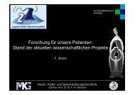 Aktuelle Forschungsprojekte Spaltzentrum - LKG-Zentrums ...
