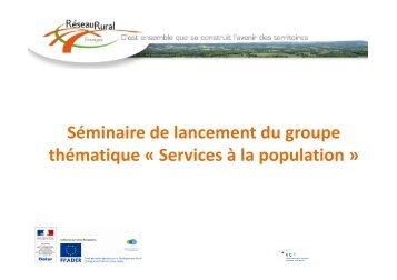 Support de présentation de la journée - Réseau Rural Français