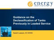 Guidance on the declassification of tanks previously in ... - BOHS