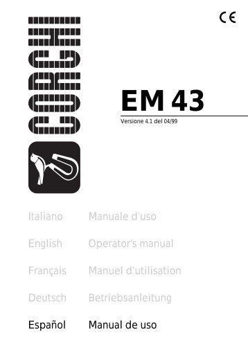 Corghi Em 43 Owners Manual