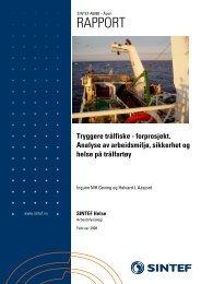 SINTEF: Tryggere trålfiske - Sjøfartsdirektoratet