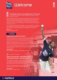 Natwest Inter Cricket Info Pack - Pages 4-6 - Ecb - England and ...