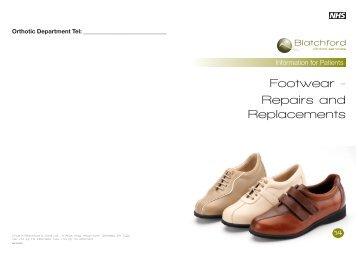 Footwear - Repairs and Replacements - Blatchford