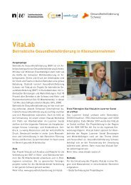 VitaLab Betriebliche Gesundheitsförderung in Kleinunternehmen