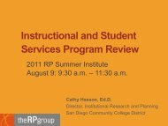 Instructional and Student Services Program Review - The RP Group