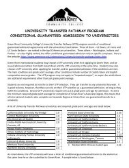 university transfer pathway program conditional guaranteed ...