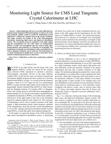 Paper on PWO ECAL Monitoring Project for CMS, IEEE ... - Caltech