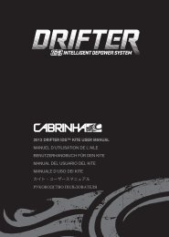 2012 drifter ids™ kite user manual manuel d'utilisation ... - Cabrinha