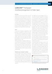 Zertifikatsmanagement im Public Spot (PDF) - LANCOM Systems