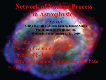 Network of Nuclear Process in Astrophysics