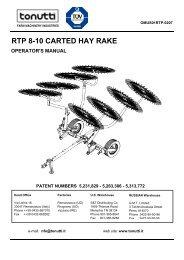 RTP 8-10 CARTED HAY RAKE - Edney Distributing Co. Inc.