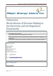 Submission in Response to Merits Review Regulation Impact ...