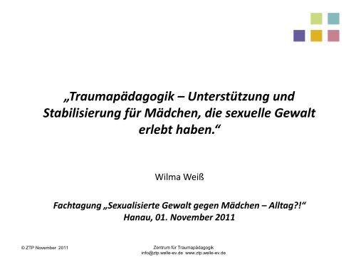 Vortrag zum Download. - Netzwerk gegen Gewalt