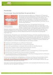 Parodontitis Parodontose Parodontologie Zahnfleisch ... - Dr. Schulte
