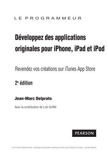 Développez des applications originales pour iPhone ... - Pearson