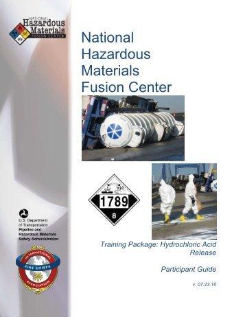 Hydrochloric Acid Release Participant Guide - Hazmat Fusion Center