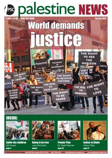 World demands - Palestine Solidarity Campaign