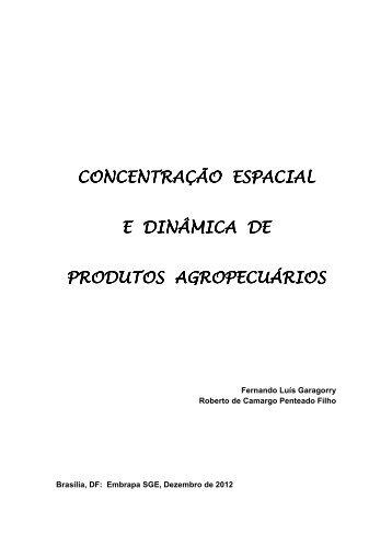 Concentração espacial e dinâmica de produtos ... - Embrapa