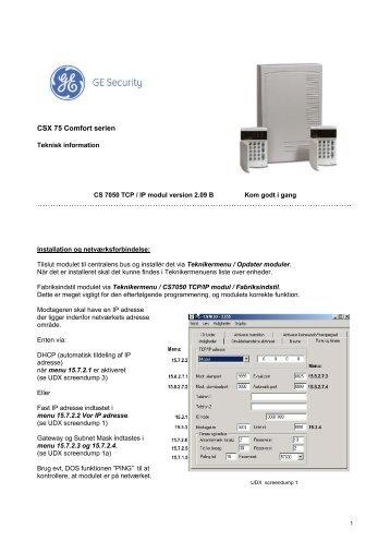 CS 7050 TCP / IP modul - Solar Danmark A/S