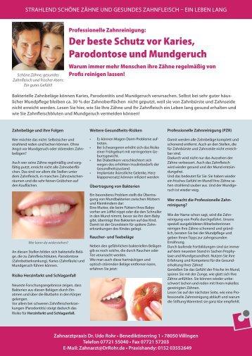 PDF Download: Flyer Erwachsenenprophylaxe - Udo Rohr