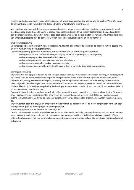 Schoolreglement - Sint-Jozefsinstituut Handel en Toerisme
