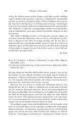 689 A History of Denmark orden, dvs. beskytte ... - Historisk Tidsskrift