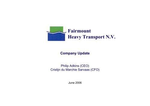 Fairmount Heavy Transport N.V.
