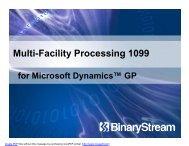 Multi-Facility Processing 1099 - Binary Stream