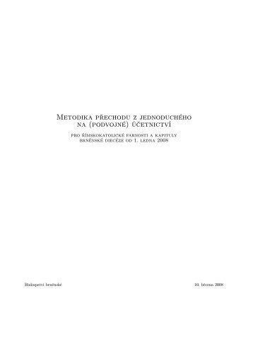 (podvojné) účetnictví - Biskupství brněnské