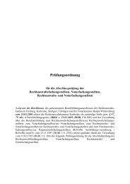 Prüfungsordnung - Rechtsanwaltskammer Karlsruhe
