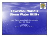 Session 12_Lewiston Stormwater Utilities - Maine WasteWater ...