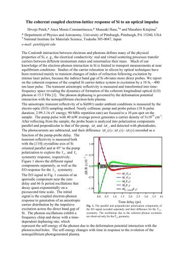 The coherent coupled electron-lattice response of Si to an optical ...