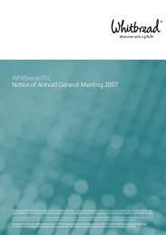 Whitbread PLC Notice of Annual General Meeting 2007 - Hemscott IR