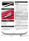 stabilisierungsfinne stückliste einsatzbereich ... - Grabner Sports - Page 3
