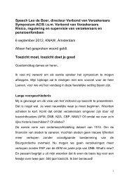 Speech Leo de Boer, directeur Verbond van Verzekeraars ...