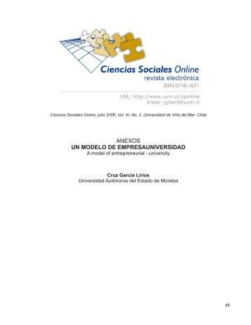 anexos un modelo de empresauniversidad - Universidad de Viña ...