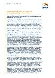 Position zum Fraktionsentwurf zur Anpassung der EEG ...